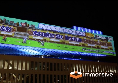 Samsung Building Projection